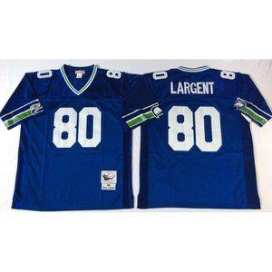 Seattle Seahawks Steve Largent Blue Jersey